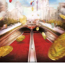 طرح آماده تبلیغاتی با موضوع جایزه بانکی