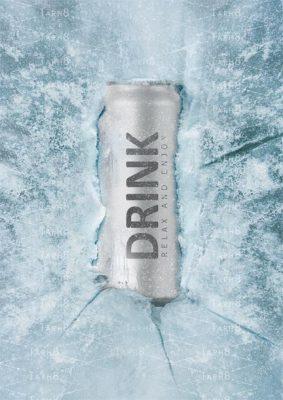 دانلود فایل بسیار زیبای نوشیدنی در یخ به صورت لایه باز مخصوص فتوشاپ